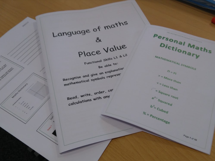 Functional Skills Maths Language of math and place value