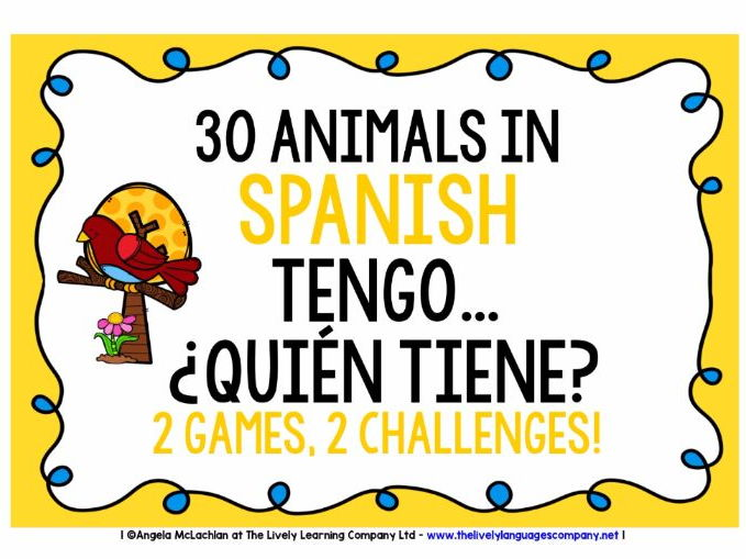 SPANISH ANIMALS FOLLOW ME GAMES