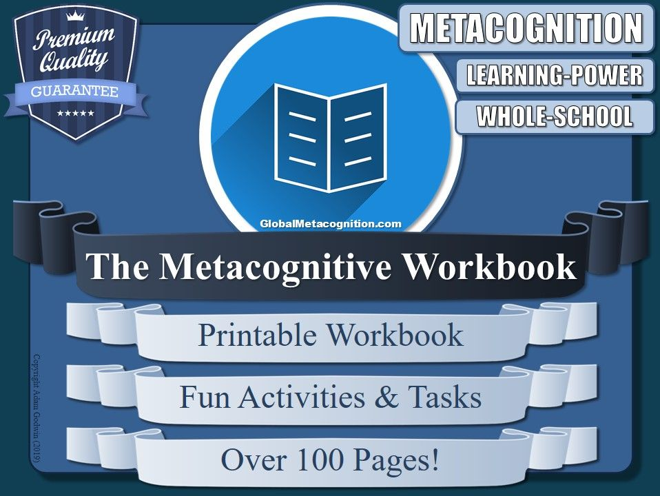 The Metacognitive Printable Workbook [Metacognition Tool - 16/20]