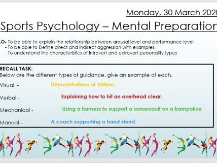 AQA 9 -1 GCSE PE Mental Preperation Lesson