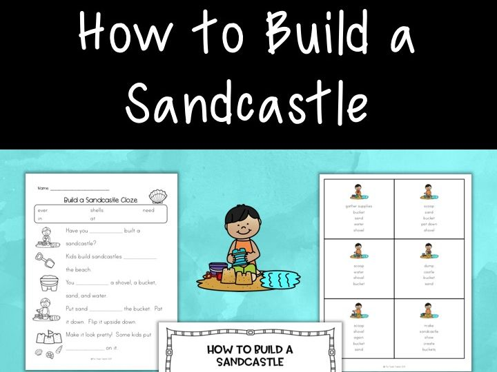 How to Build a Sandcastle - sequencing book & activities