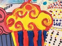 Modern Art Movements Project Lesson 5: Fauvism Cupcake: using bright random colours in paint