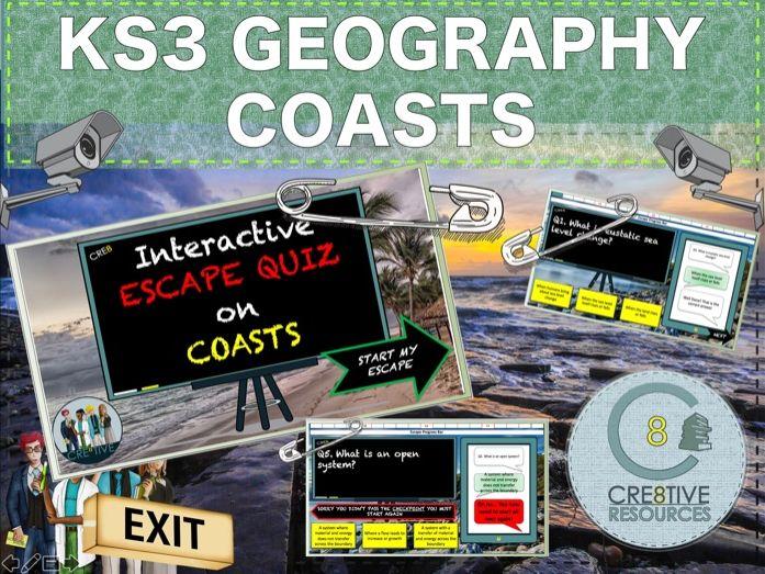 Coasts Escape Quiz - Geography