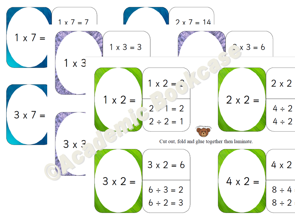 Self check flashcards - Times Tables Bundle