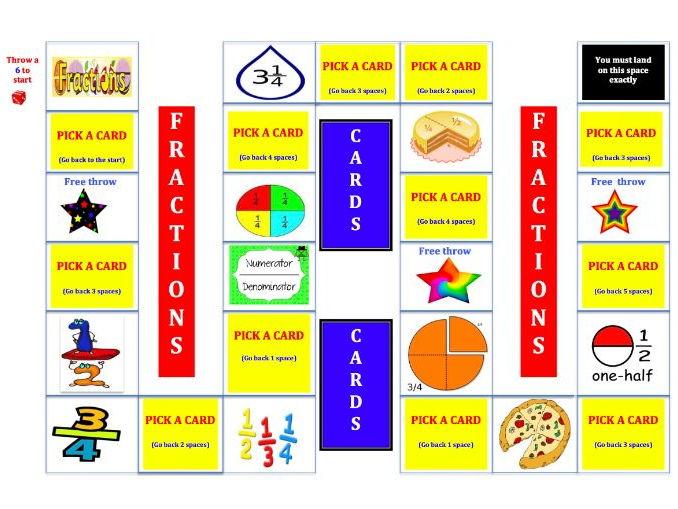 KS 1 Fraction  Board Game