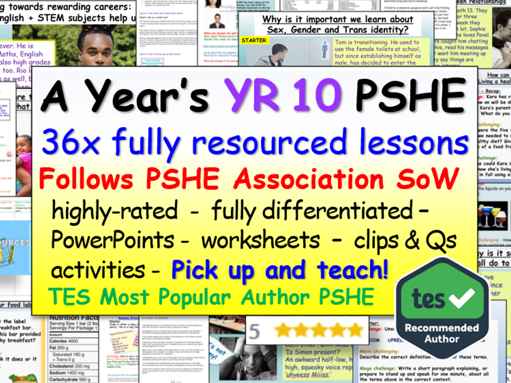 Year 10 PSHE , RSE + Careers