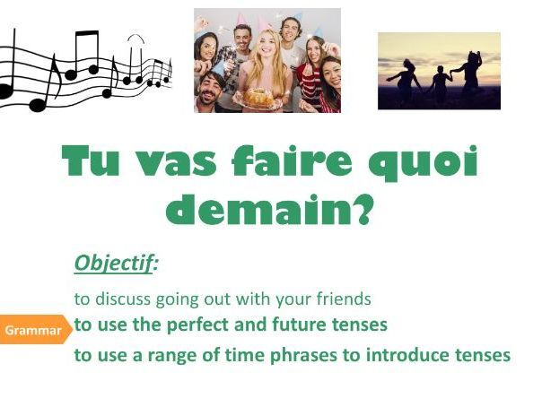 HIER ET DEMAIN (perfect and future tenses, activities, asking a question)