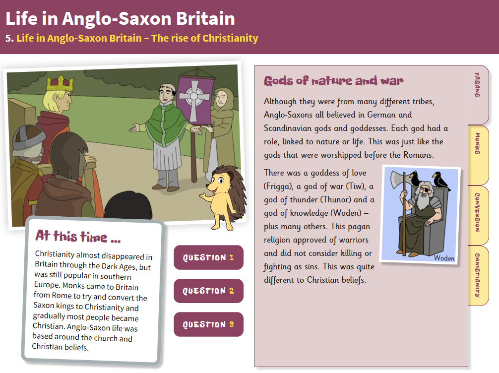 The Rise of Christianity - Interactive Teaching Book - Anglo-Saxon Britain KS2