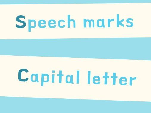 SCAPS punctuating speech with inverted commas poster