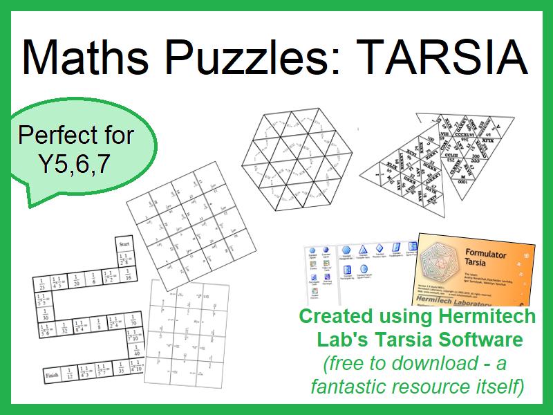 Maths Puzzles: Tarsia