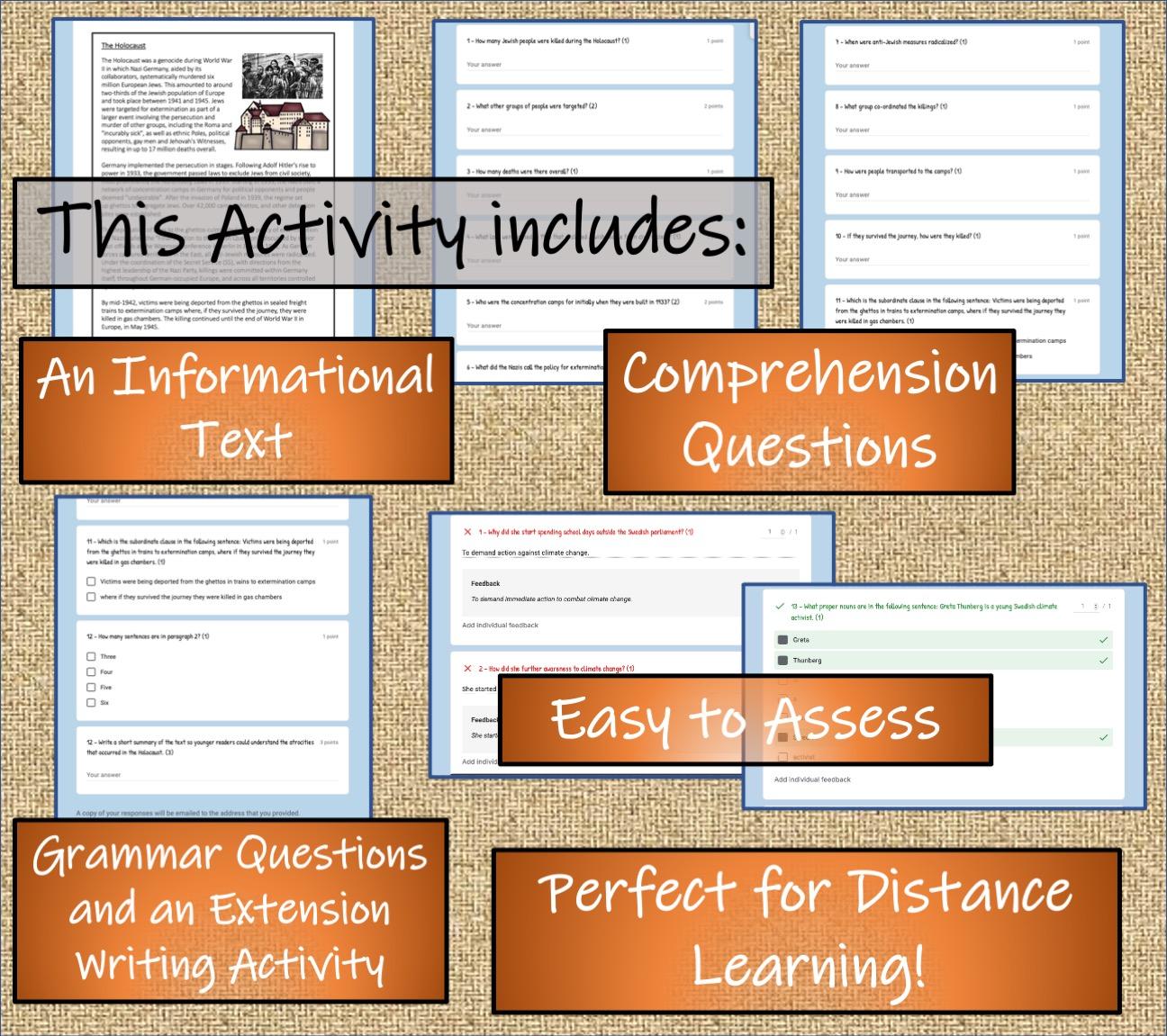 Uks2 The Holocaust Reading Comprehension Activity Digital Print Teaching Resources [ 1151 x 1296 Pixel ]
