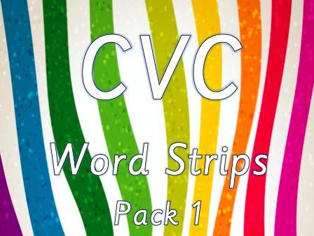 CVC Word Strips - Pack 1