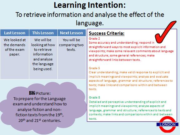 AQA English Language - Exam Skills