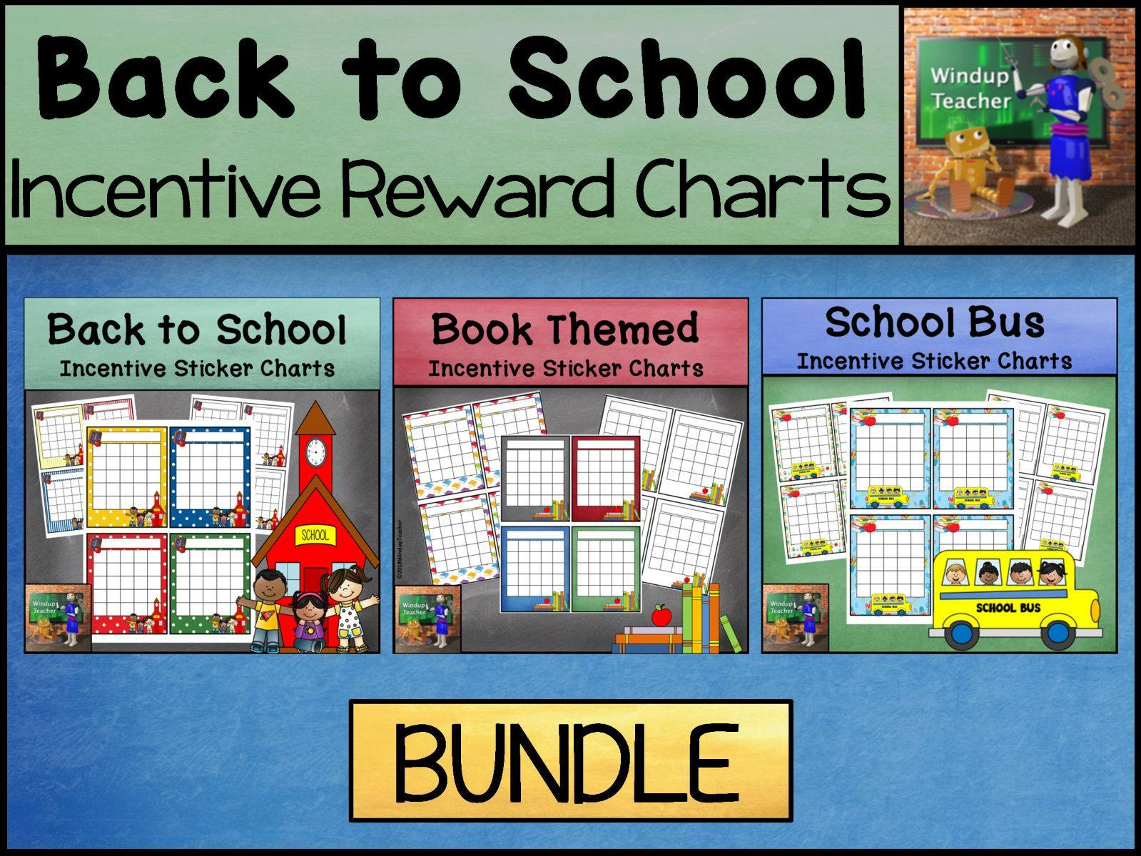 Back to School Sticker Charts | Rewards and Incentives | BUNDLE