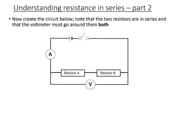 GCSE Science / Physics / (AQA P2) Series Circuits (Lesson and PowerPoint)