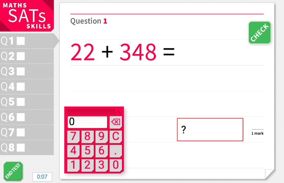 Addition and subtraction of multi-digit numbers - KS2 Maths Sats Arithmetic - Interactive Exercises