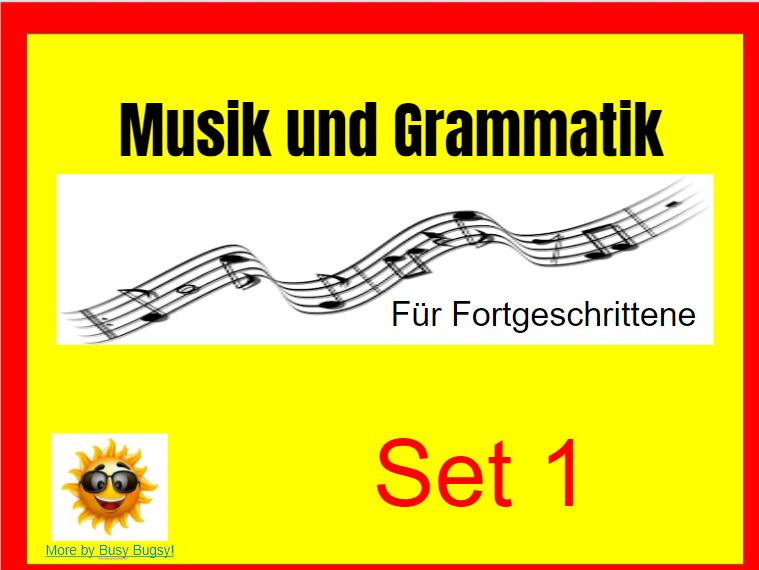 Musik zum Thema Grammatik für Fortgeschrittene SET 1