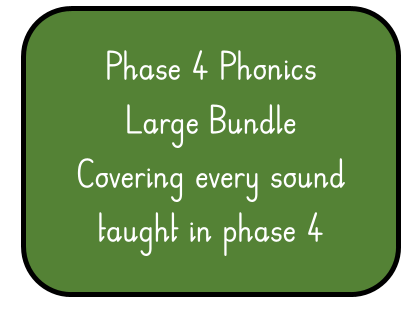 Phase 4 Phonics Large Bundle Of worksheets