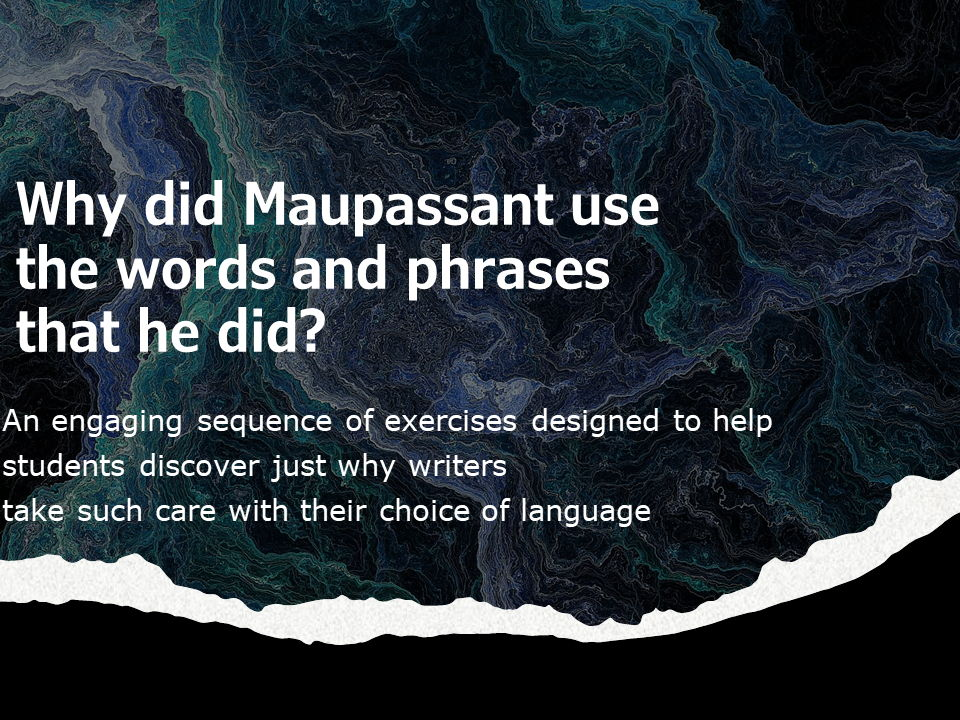 Analysing a Story Maupassant: A Vendetta