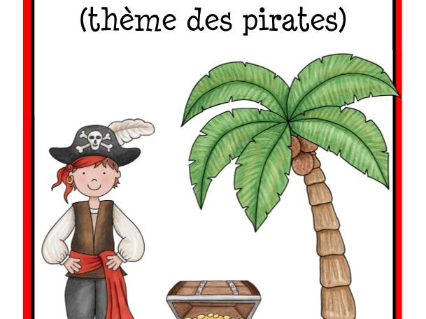 Calendrier et étiquettes sur le thème des pirates