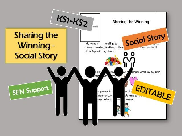 Social Story - Sharing the winning