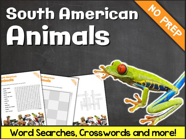 South American Animals (Puzzles & Fun Stuff)