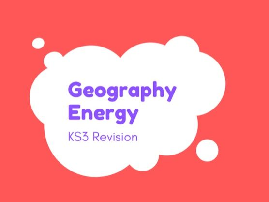 KS3 Geography Energy Revision