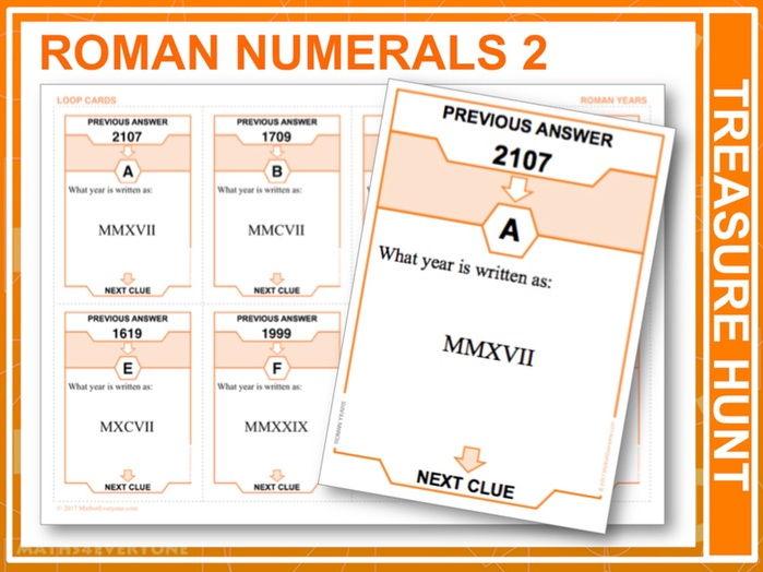 Roman Numerals, Years (Treasure Hunt)