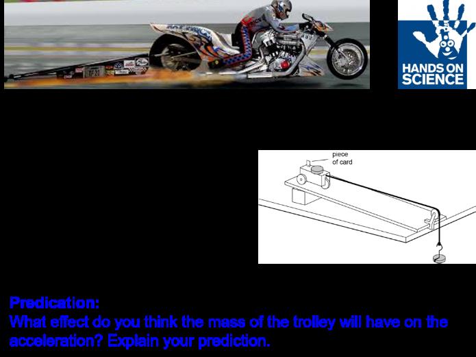 Investigating Acceleration Core Practical CP2d SP2d Edexcel 9-1 GCSE Physics Forces and Motion
