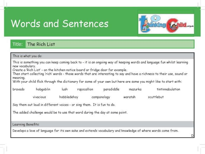 Words and Sentence Activity cards - Over 70 Spag Ideas - year 3 /4