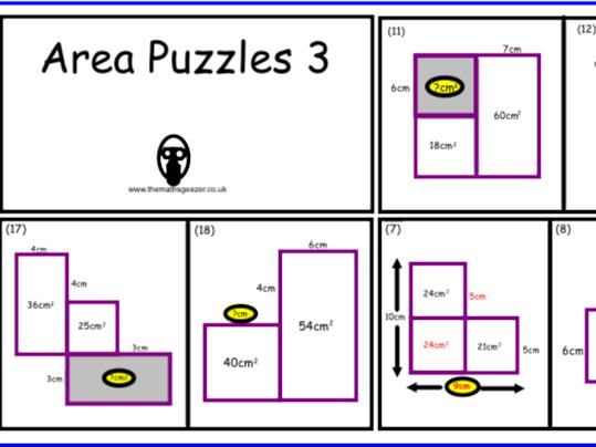 Area Puzzles 3 - PDF