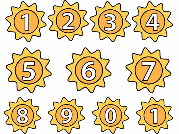 Sun Numbers, Summer Numbers (0 to 9)