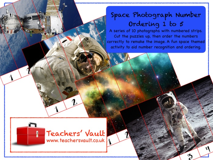 Space Photograph Number Ordering 1 to 5