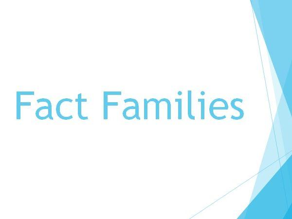 Unifix Fact Family Trains