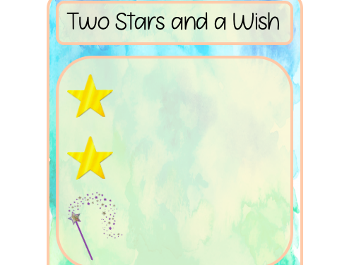 Two Stars and a Wish Peer Assessment Cards