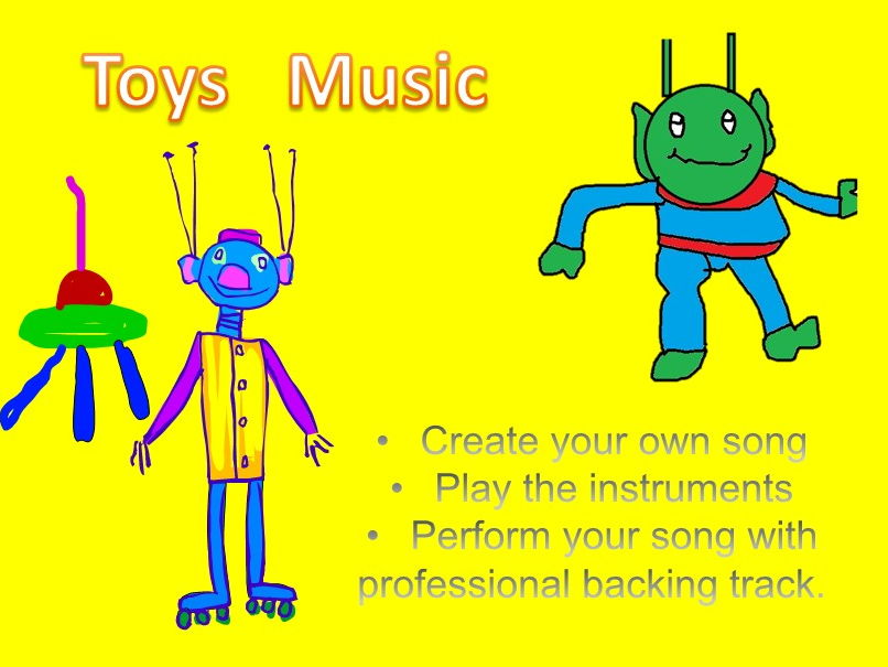 Toys. Music for non specialist. Warm up, song writing , percussion playing. PPT  with inbuilt sound.