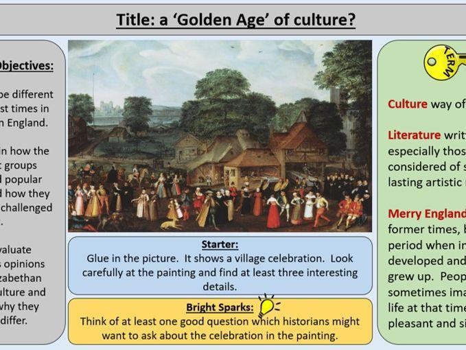 OCR J411 GCE 1-9 The Elizabethans 1580-1603 - Section 4: Popular Culture