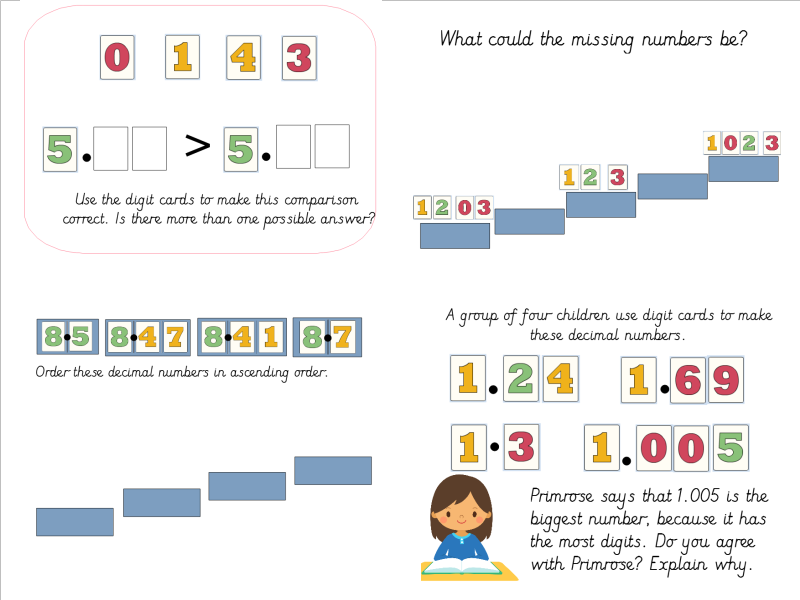 Year 4 Ordering Decimals Lesson Pack