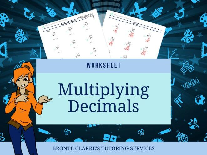 Yr 7 MULTIPLYING DECIMALS Worksheet with Answers