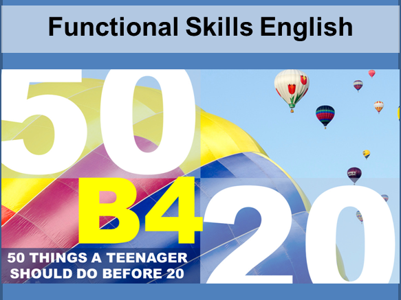 Functional Skills English Speaking and Listening Lesson Plan with Resources
