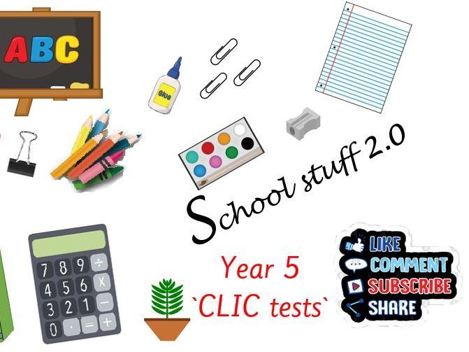 Y5 Big maths CLIC tests