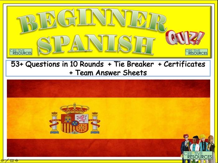 Spanish for Beginners Quiz