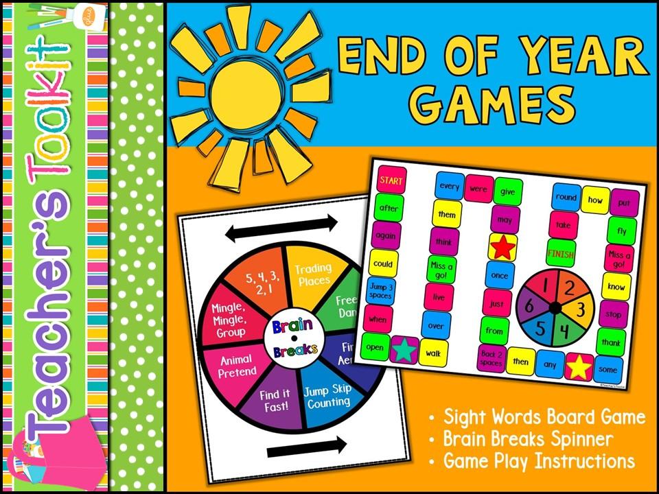 {Freebie} End of Year Games