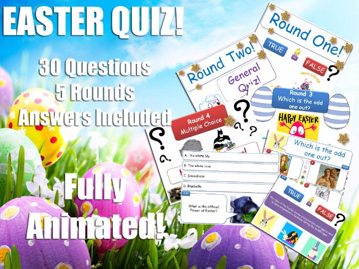 Drama - Easter Quiz! GCSE KS4 [ End of Term Fun! ] 2017 - FULLY ANIMATED! Performing Arts Theatre