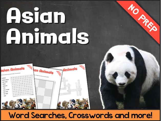 Asian Animals (Puzzes & Fun Stuff)