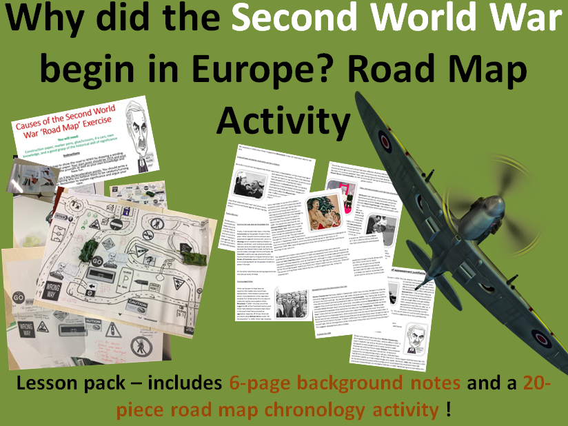 Causes of WW2 in Europe - 6 page/8 slide lesson pack