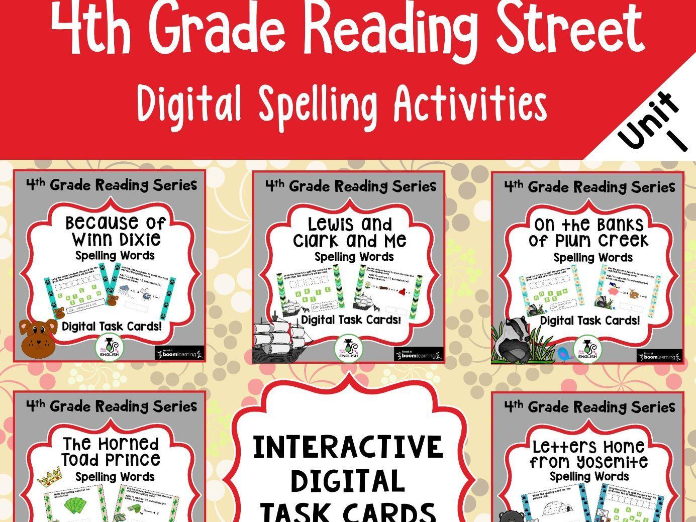 4th Grade Reading Street - Unit 1 Spelling Bundle - Digital Boom Cards