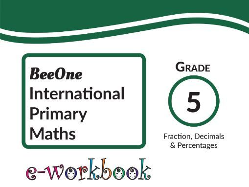 Grade 5 Fractions, 66 Worksheets BeeOne Books