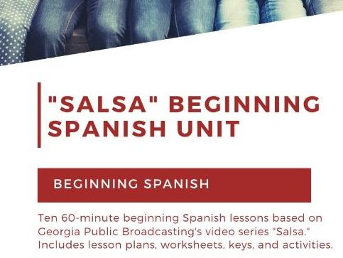 "Beginning Spanish Unit Based on ""Salsa"" Video Series ~ Lesson Plans, Speaking Activities, Worksheets"