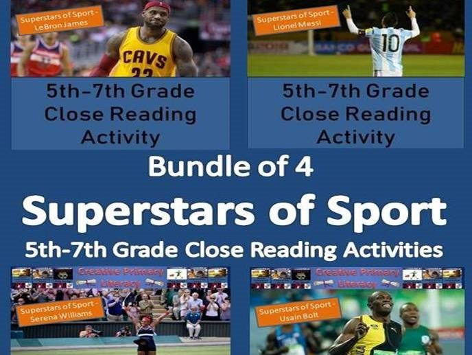 Superstars of Sport Collection of Reading Comprehensions